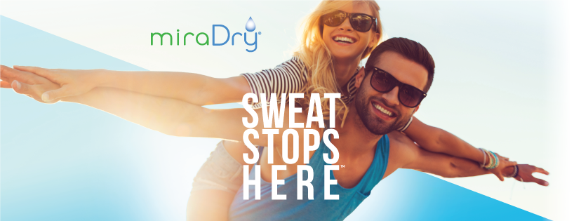 Couple showing their dry underarms -- miraDry