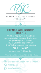 PSC program offers incentives for Friends with BOTOX